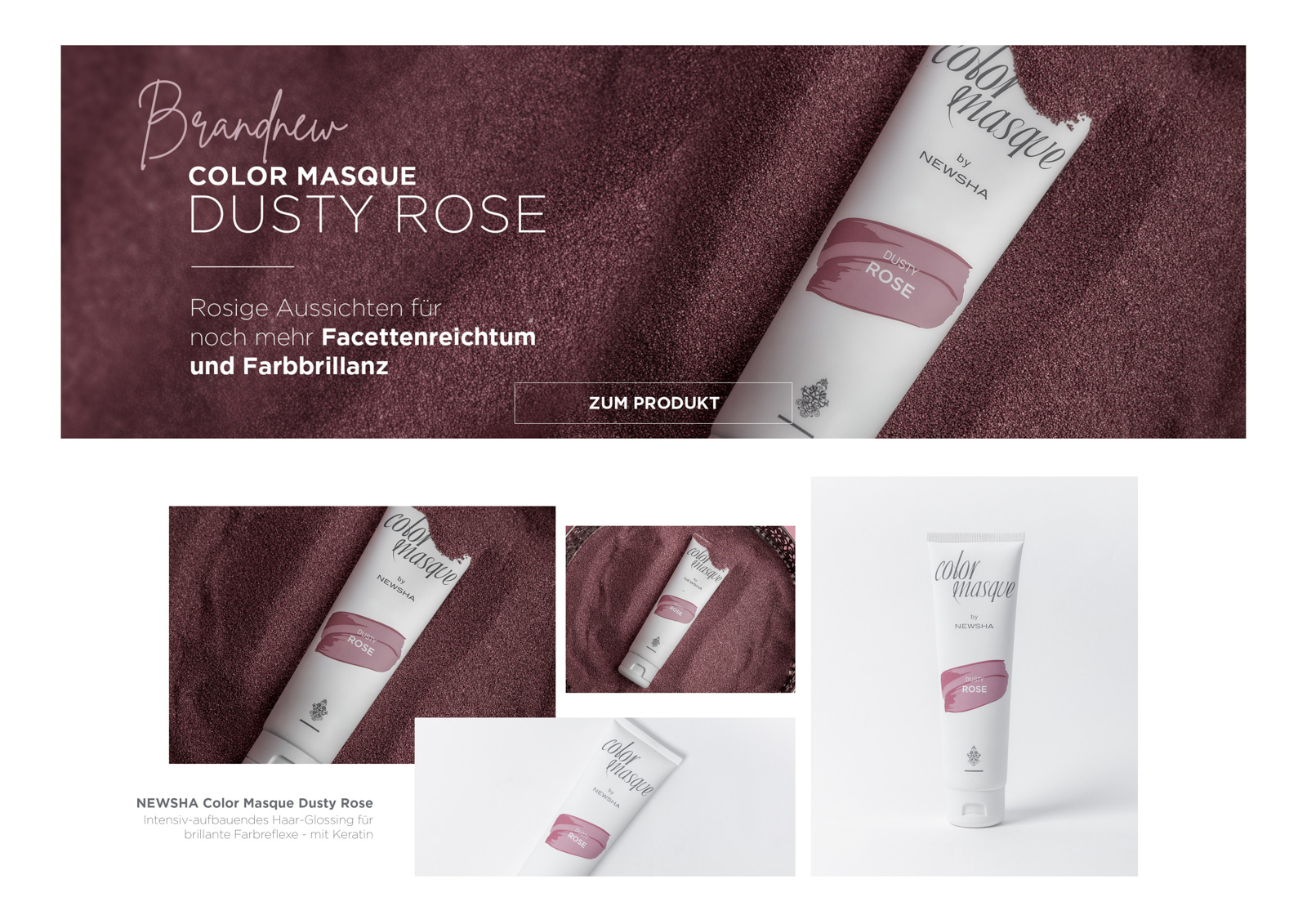 NEWSHA | COLOR MASQUE DUSTY ROSE | PRODUCT SHOT